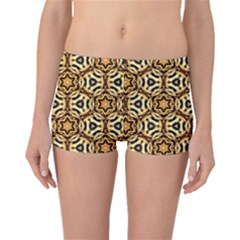 Faux Animal Print Pattern Boyleg Bikini Bottoms