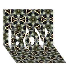 Faux Animal Print Pattern BOY 3D Greeting Card (7x5)
