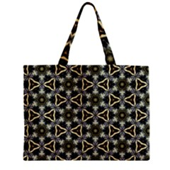 Faux Animal Print Pattern Zipper Tiny Tote Bags