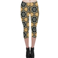 Faux Animal Print Pattern Capri Leggings