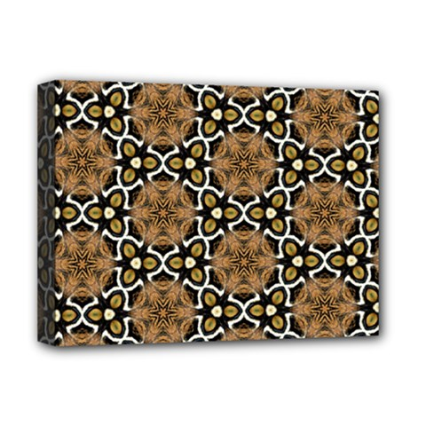 Faux Animal Print Pattern Deluxe Canvas 16  X 12