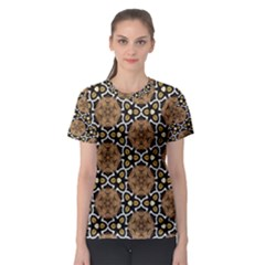 Faux Animal Print Pattern Women s Sport Mesh Tees