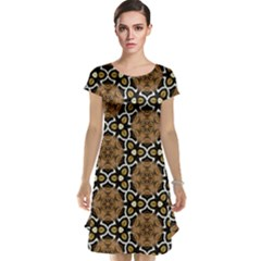 Faux Animal Print Pattern Cap Sleeve Nightdresses