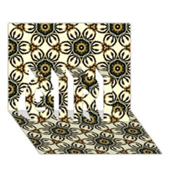 Faux Animal Print Pattern GIRL 3D Greeting Card (7x5)