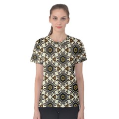 Faux Animal Print Pattern Women s Cotton Tees