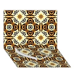 Faux Animal Print Pattern Heart Bottom 3D Greeting Card (7x5)