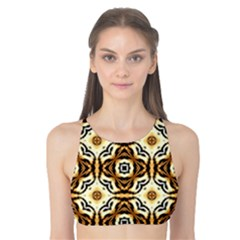 Faux Animal Print Pattern Tank Bikini Top
