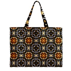 Faux Animal Print Pattern Zipper Tiny Tote Bags