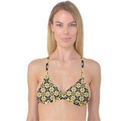 Faux Animal Print Pattern Reversible Tri Bikini Tops