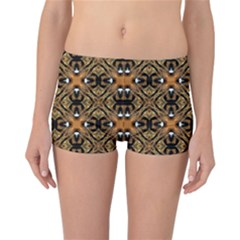 Faux Animal Print Pattern Reversible Boyleg Bikini Bottoms