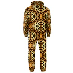 Faux Animal Print Pattern Hooded Jumpsuit (Men)