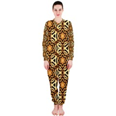 Faux Animal Print Pattern OnePiece Jumpsuit (Ladies)