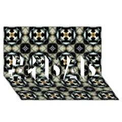 Faux Animal Print Pattern #1 DAD 3D Greeting Card (8x4)