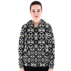 Faux Animal Print Pattern Women s Zipper Hoodies