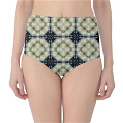 Faux Animal Print Pattern High Waist Bikini Bottoms