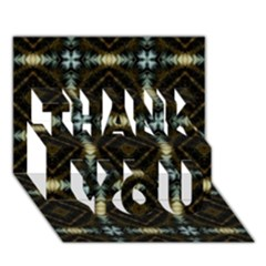 Faux Animal Print Pattern THANK YOU 3D Greeting Card (7x5)