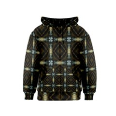 Faux Animal Print Pattern Kids Zipper Hoodies