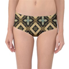 Faux Animal Print Pattern Mid-Waist Bikini Bottoms