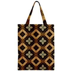 Faux Animal Print Pattern Zipper Classic Tote Bags