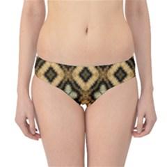 Faux Animal Print Pattern Hipster Bikini Bottoms