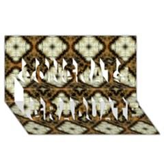 Faux Animal Print Pattern Congrats Graduate 3D Greeting Card (8x4)