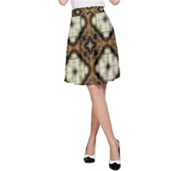 Faux Animal Print Pattern A-Line Skirts