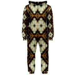 Faux Animal Print Pattern Hooded Jumpsuit (ladies)