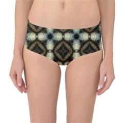 Faux Animal Print Pattern Mid-Waist Bikini Bottoms