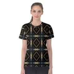 Faux Animal Print Pattern Women s Cotton Tees