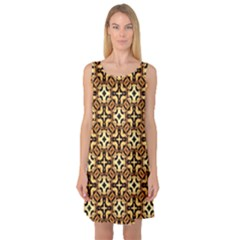 Faux Animal Print Pattern Sleeveless Satin Nightdresses