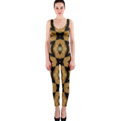 Faux Animal Print Pattern OnePiece Catsuits