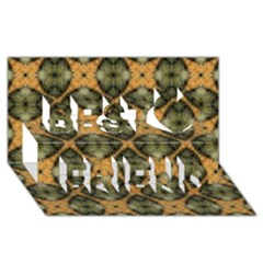 Faux Animal Print Pattern Best Friends 3D Greeting Card (8x4)