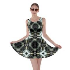 Faux Animal Print Pattern Skater Dresses