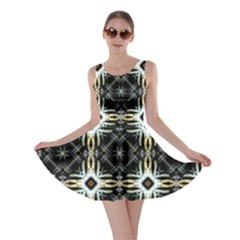 Faux Animal Print Pattern Skater Dresses