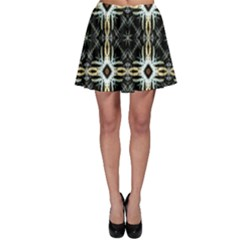 Faux Animal Print Pattern Skater Skirts