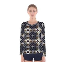 Faux Animal Print Pattern Women s Long Sleeve T Shirts