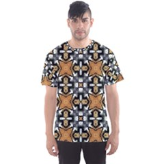 Faux Animal Print Pattern Men s Sport Mesh Tees