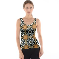 Faux Animal Print Pattern Tank Tops