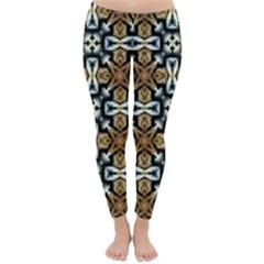Faux Animal Print Pattern Winter Leggings