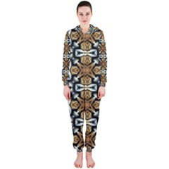 Faux Animal Print Pattern Hooded Jumpsuit (ladies)