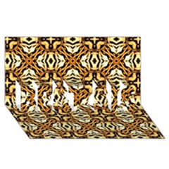 Faux Animal Print Pattern Best Sis 3d Greeting Card (8x4)