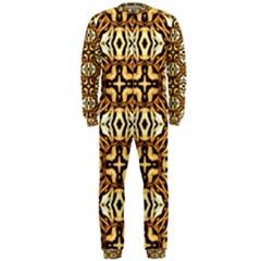Faux Animal Print Pattern Onepiece Jumpsuit (men)
