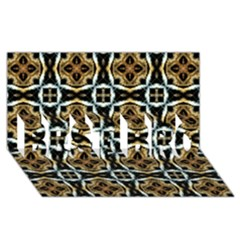 Faux Animal Print Pattern Best Bro 3d Greeting Card (8x4)