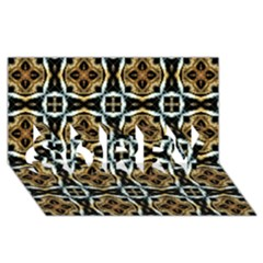 Faux Animal Print Pattern SORRY 3D Greeting Card (8x4)