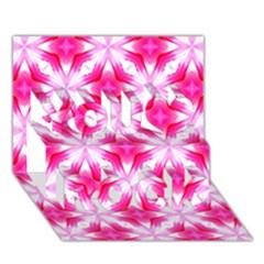 Cute Pretty Elegant Pattern You Rock 3d Greeting Card (7x5)