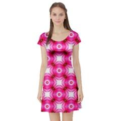 Cute Pretty Elegant Pattern Short Sleeve Skater Dresses