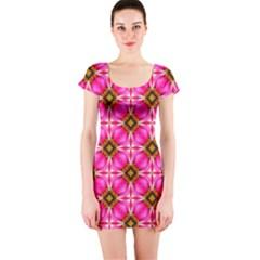 Cute Pretty Elegant Pattern Short Sleeve Bodycon Dresses
