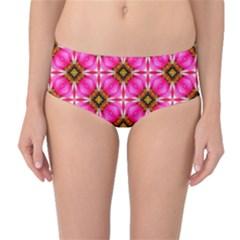 Cute Pretty Elegant Pattern Mid Waist Bikini Bottoms
