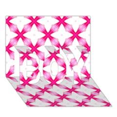 Cute Pretty Elegant Pattern BOY 3D Greeting Card (7x5)