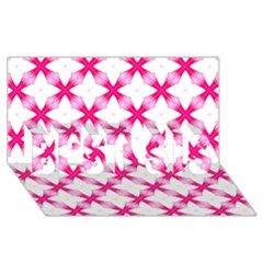 Cute Pretty Elegant Pattern Best Sis 3d Greeting Card (8x4)